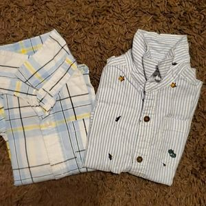 2 pack bundle assorted long sleeve shirts 2T/24M